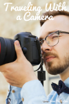 Man taking a picture with a professional camera