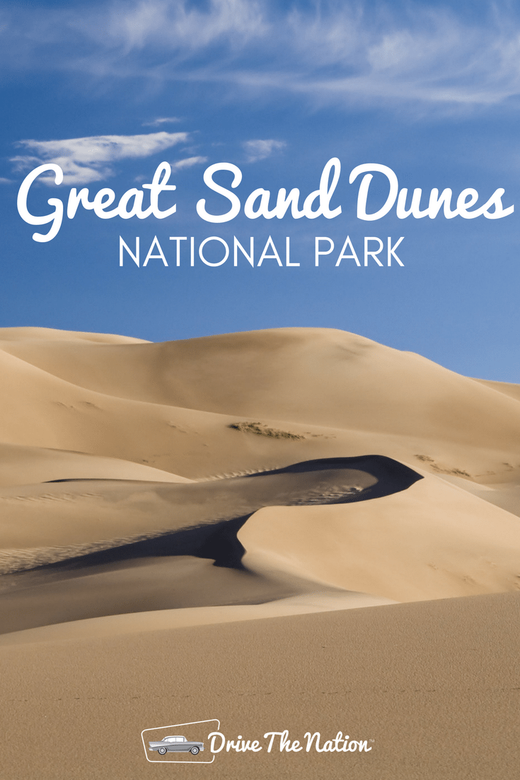 The Great Sand Dunes extend for more than thirty square miles, and include some of the tallest dunes in the nation, rising as much as 750 feet.