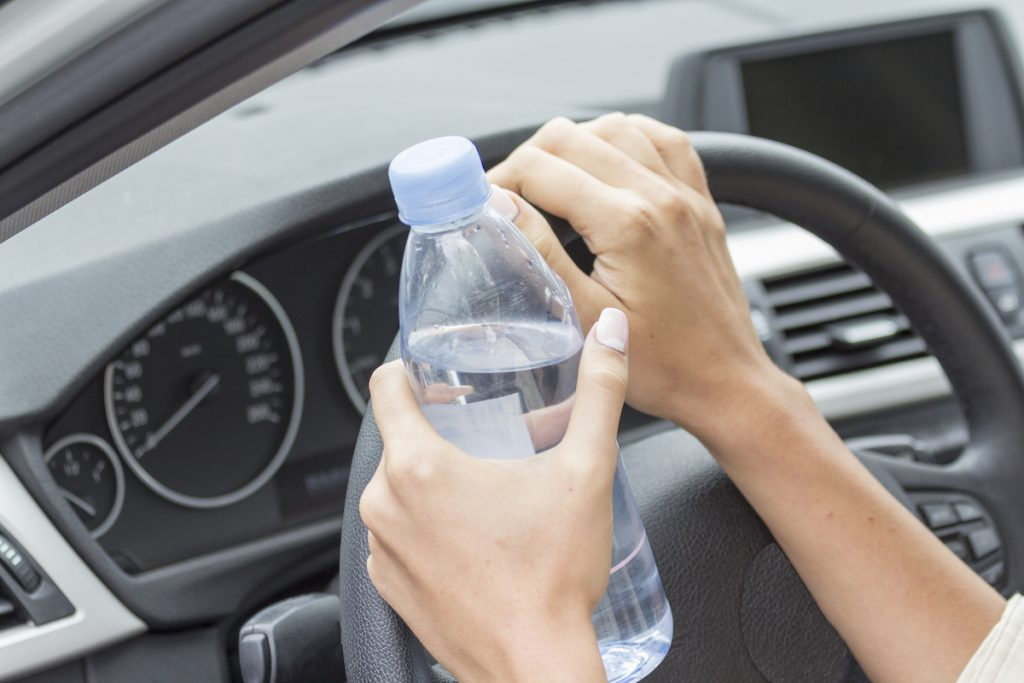 Staying hydrated on a road trip