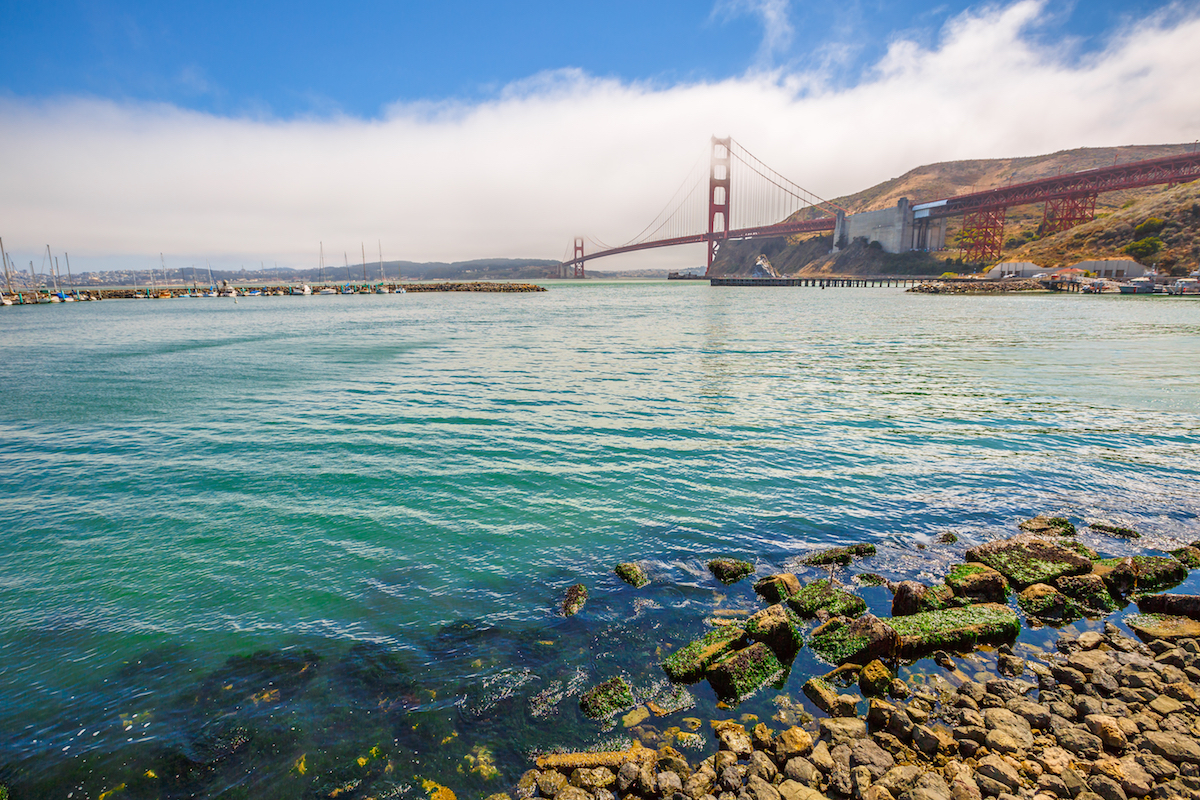Golden Gate Bridge from Fort Baker - Horseshoe Bay