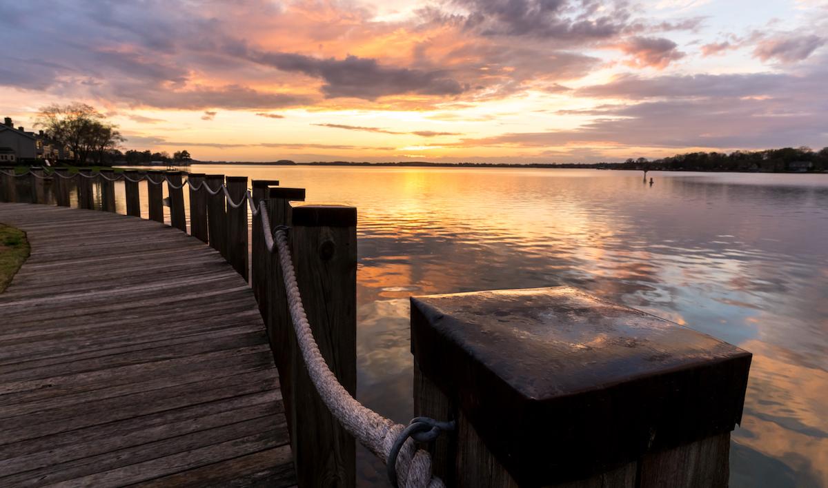 Boardwalk in Lake Norman, North Carolina