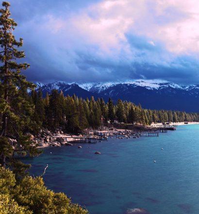 Lake Tahoe lake and mountains