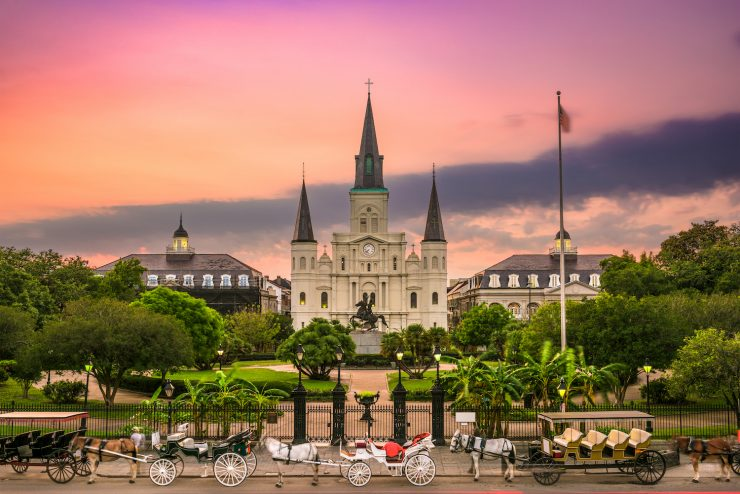 New Orleans, Louisiana at Jackson Square