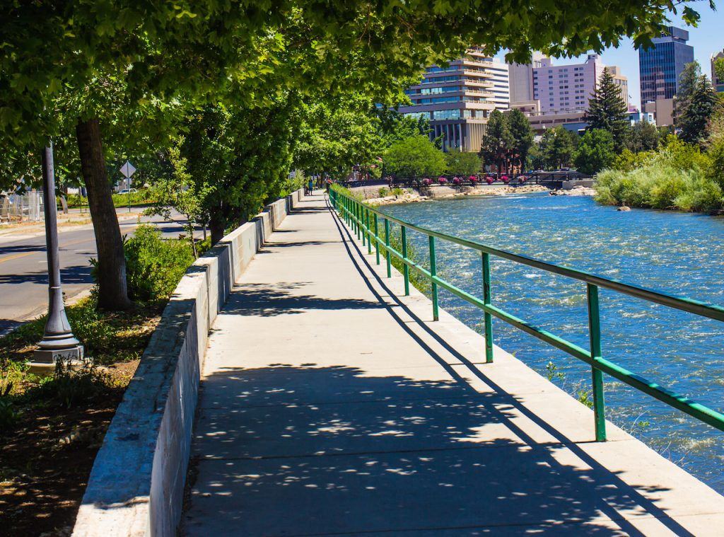 The River Walk Along Truckee River in Reno, Nevada