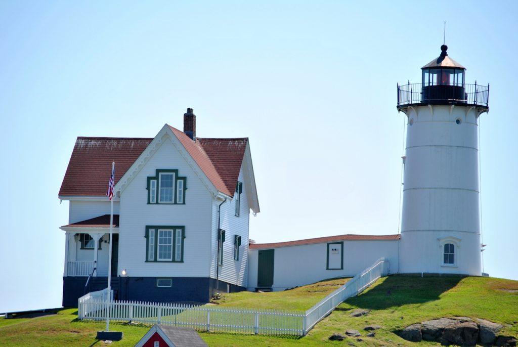 """Cape Neddick Lighthouse, """"Nubbles"""", in Maine"""