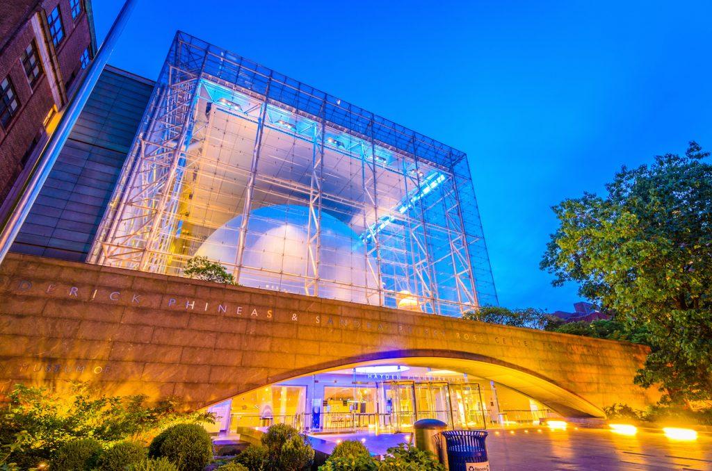The Hayden Planetarium in New York, NY.
