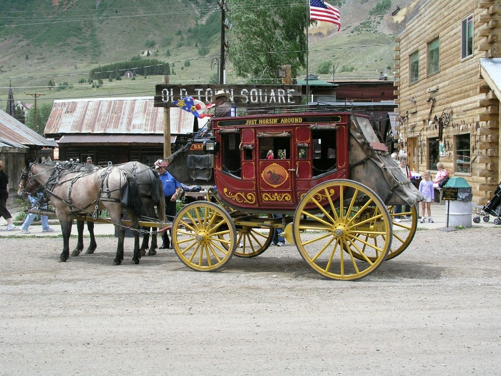 Stagecoach ride in Silverton, Colorado