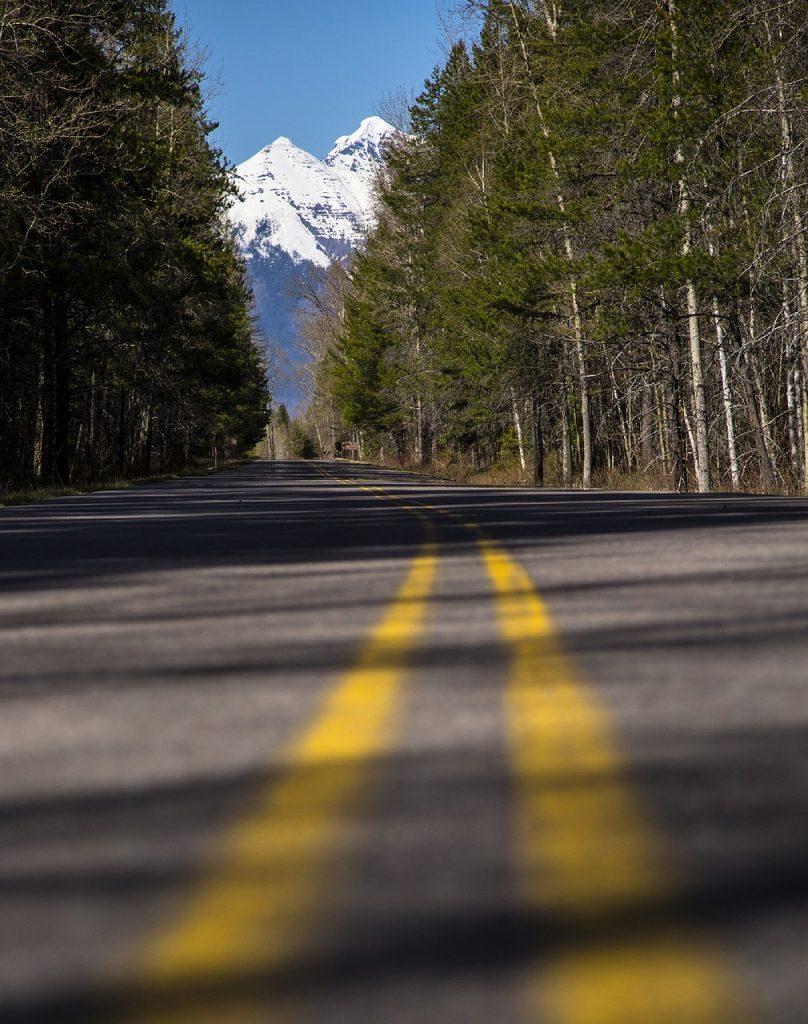 roadside view of Glacier National Park