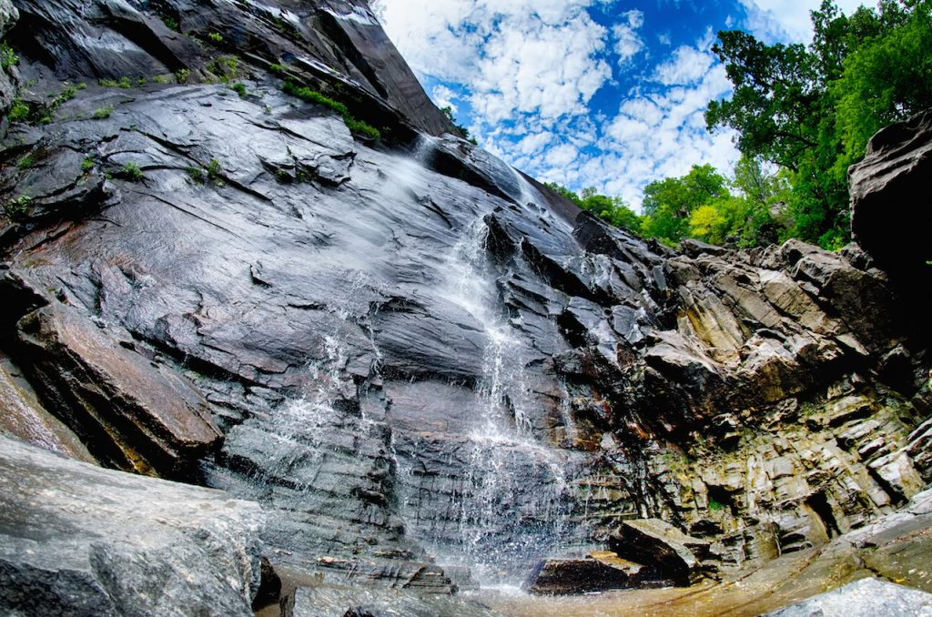 Hickory Nut Falls in Chimney Rock State Park North Carolina United States