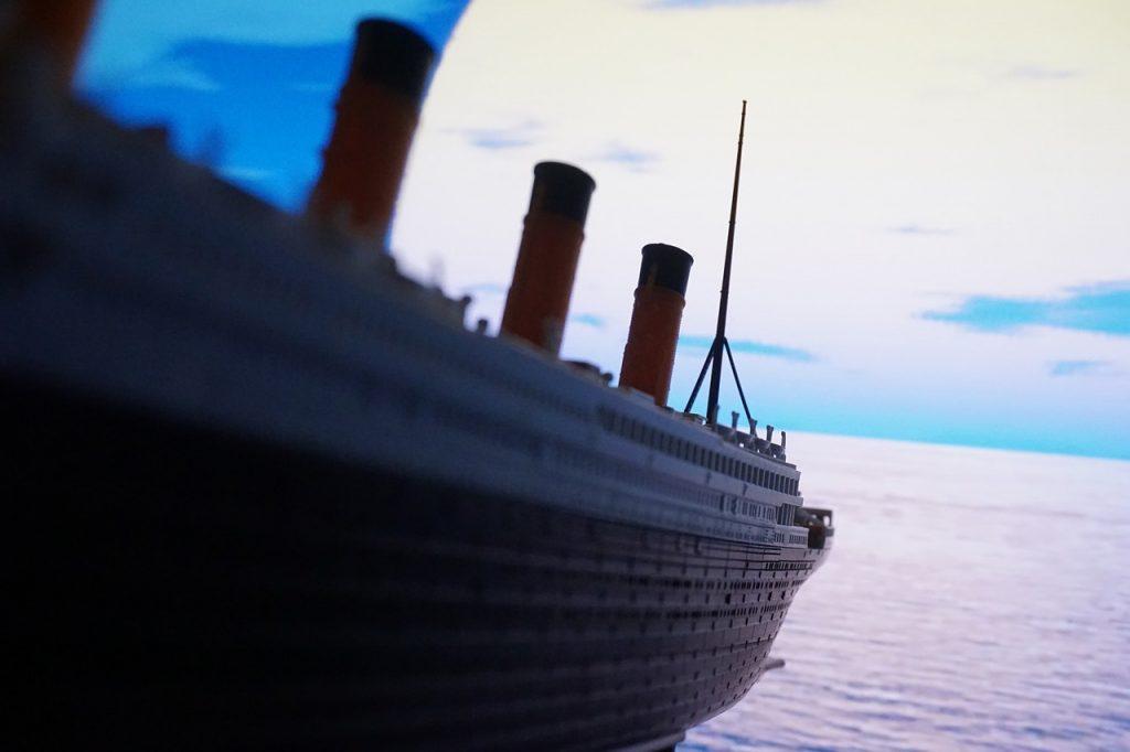 Titanic in the water