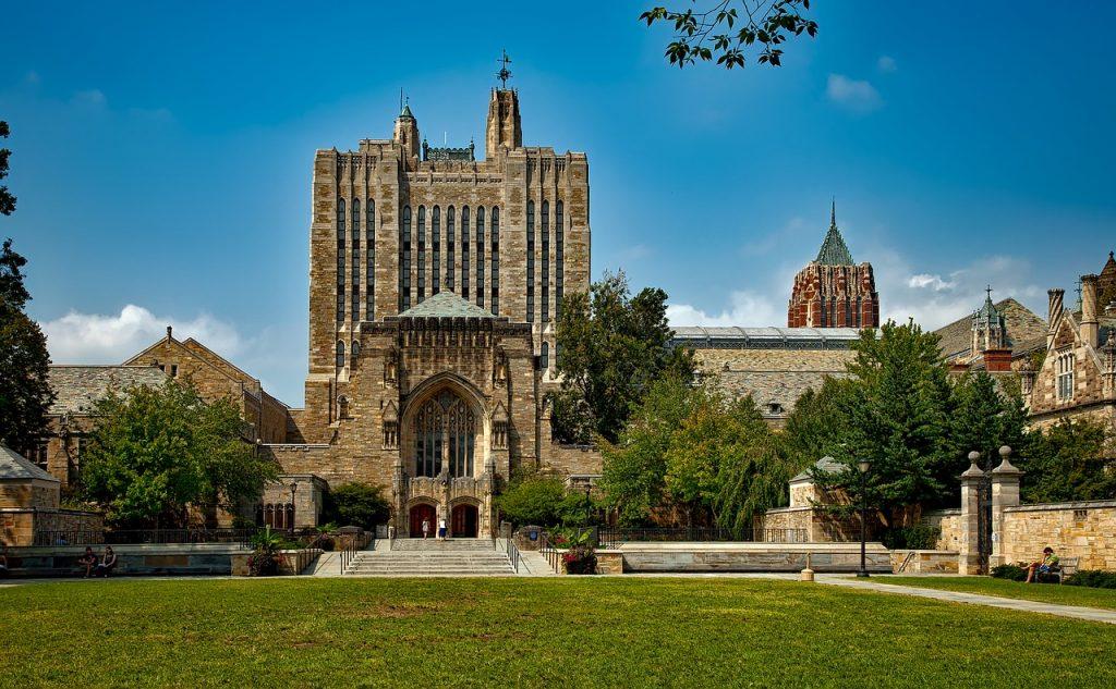 Front of Yale University