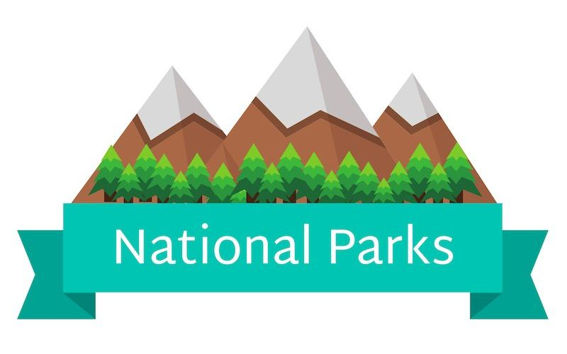 National Parks Mountains Banner